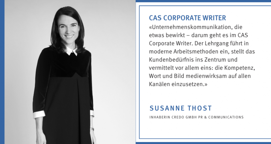 CAS Corporate Writer – Content Creator: ab 12. Nov. 2020